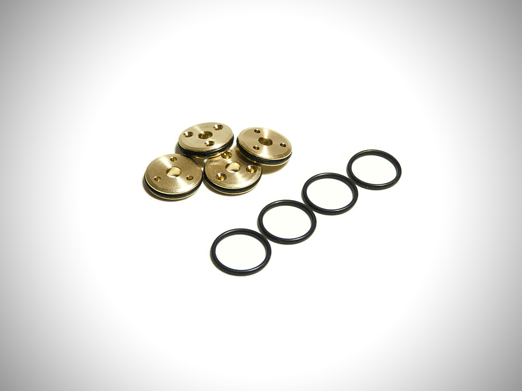 Brass 1/10th 12mm Tapered 3-Hole Piston Set (3 x 1.35mm)
