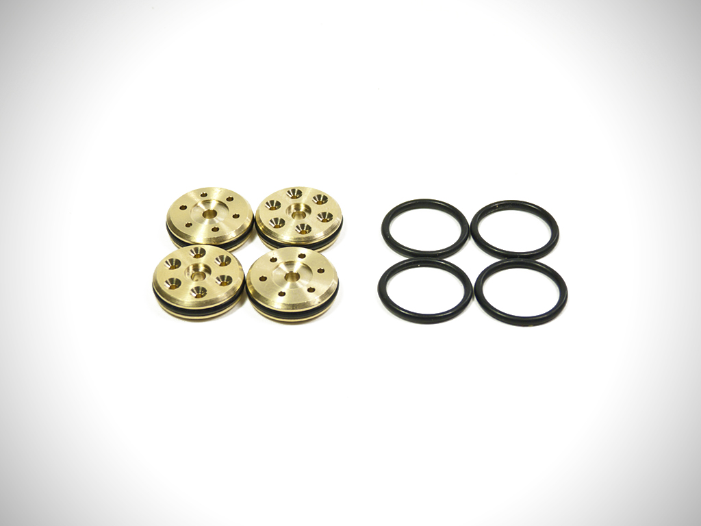 V3 Brass 16mm Tapered 6-Hole Piston Set (3x1.2mm, 3x1.3mm) (Disc