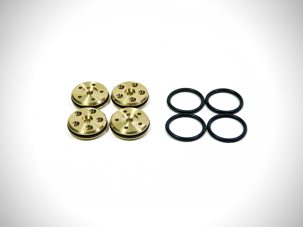 V3 Brass 16mm Tapered 5-Hole Piston Set (5x1.5mm) (Discontinued)